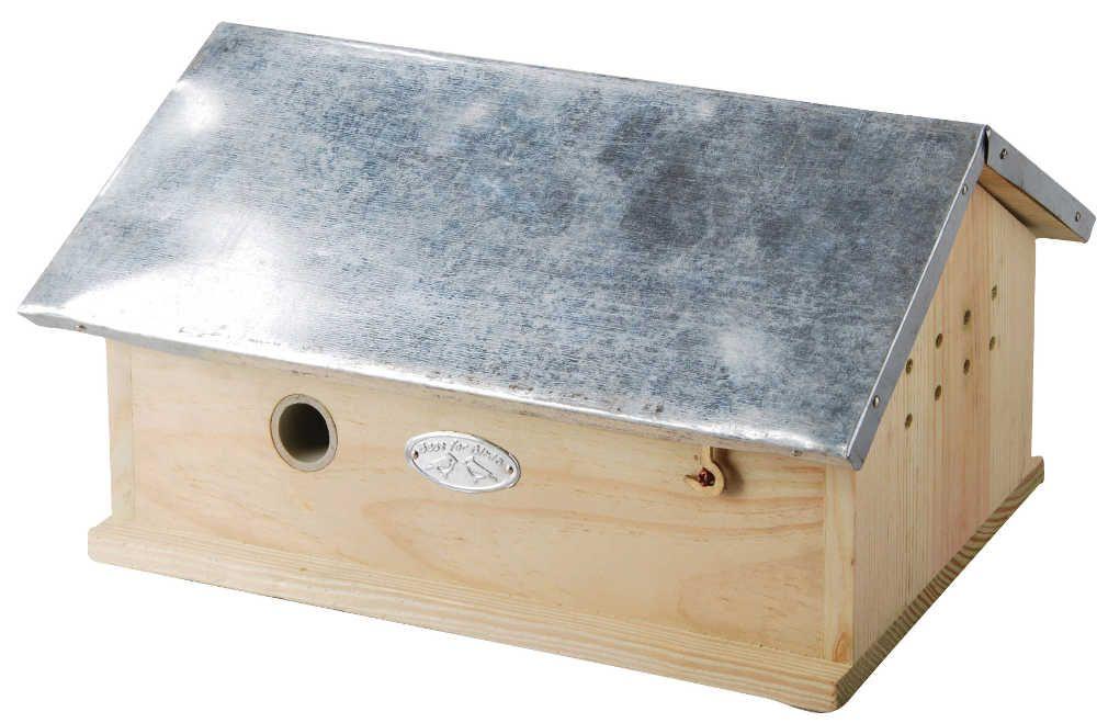 Maisonnette en bois et zinc pour bourdons