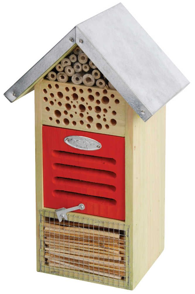 H tel insectes en bois et m tal 19x14 5x32cm for Hotel a insecte acheter