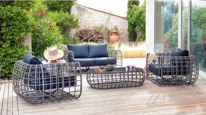 Ensemble olbia 1 canap� + 2 fauteuils + 1 table