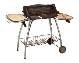 Barbecue laredo en acier et bois 135x55x96cm
