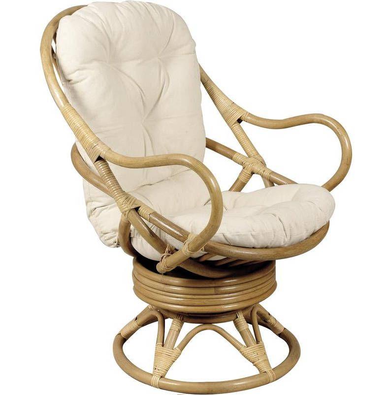fauteuil pivotant et basculant en rotin avec coussins 70x90x105cm fauteuil aubry gaspard sur. Black Bedroom Furniture Sets. Home Design Ideas