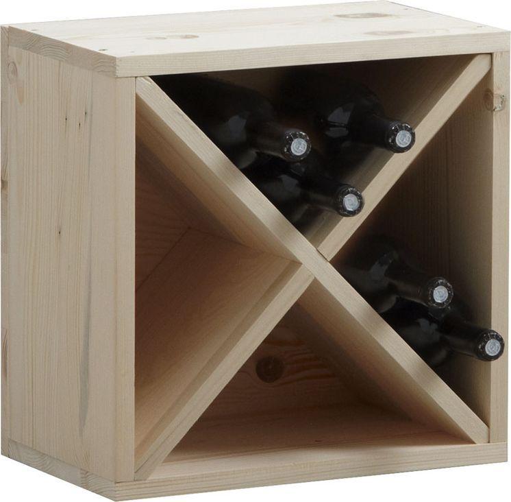 Casier de rangement 16 bouteilles en epic�a 40x40x25cm
