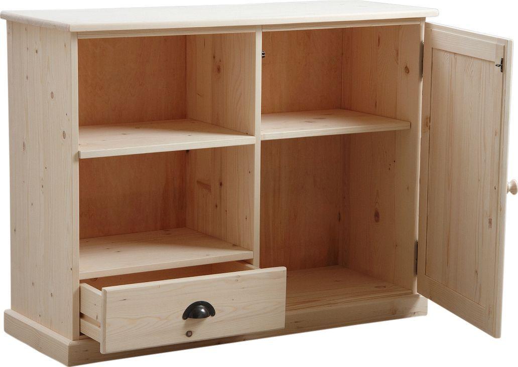 Meuble tv en bois brut 107x40x83cm meuble tv aubry for Meubles 83