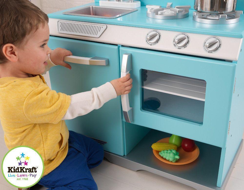 cuisine pour enfant retro cuisine vaisselle kidkraft sur. Black Bedroom Furniture Sets. Home Design Ideas