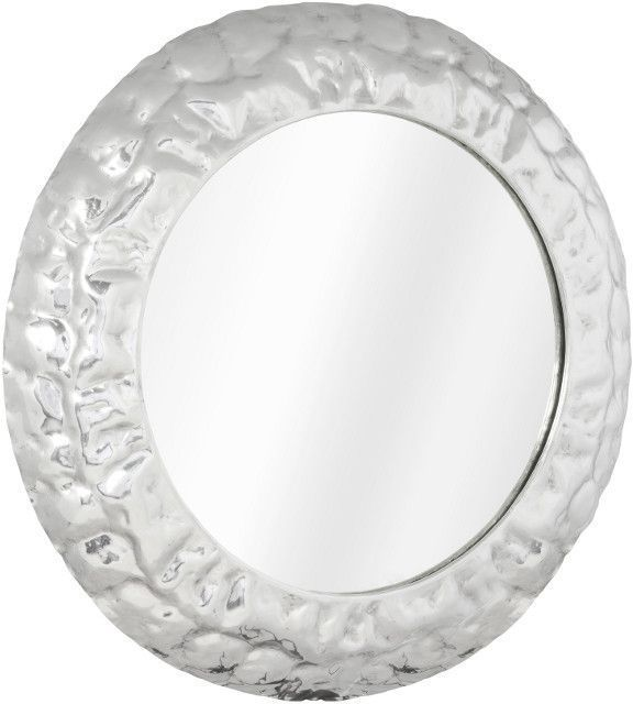 Miroir design rond 78cm en aluminium poli aluminium poli - Aluminium poli miroir ...