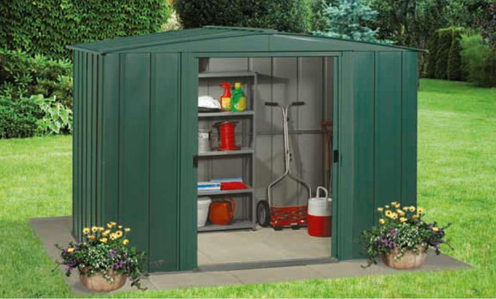 Abri en m tal en vente sur jardindeco - Abri de jardin acier galvanise nice ...