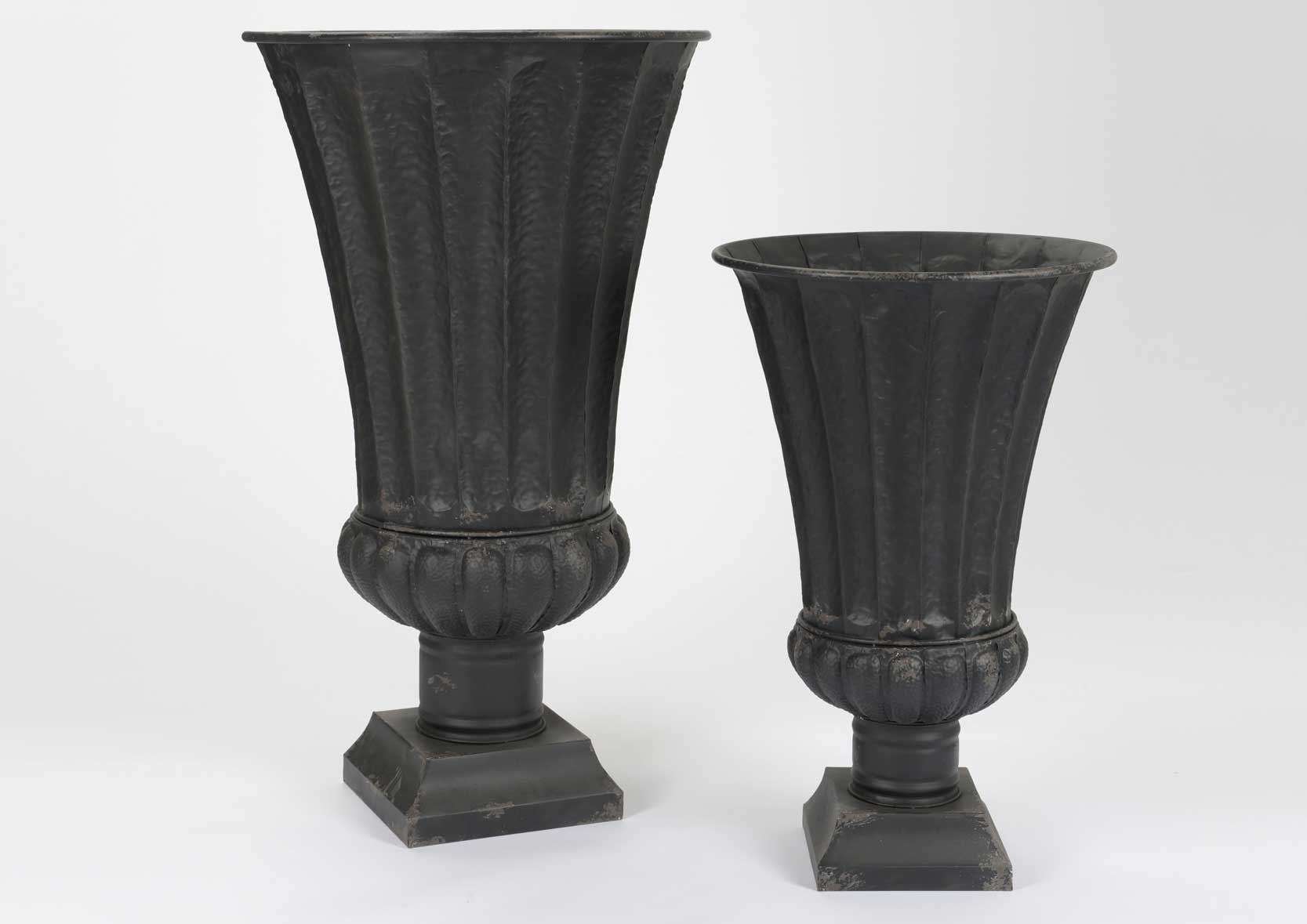 vases medicis noir lot de 2. Black Bedroom Furniture Sets. Home Design Ideas