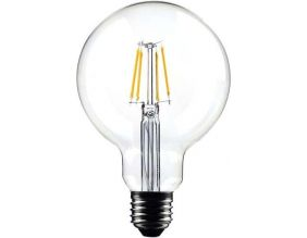 Ampoule ronde LED droit transparent 14.5 cm (Unitaire)