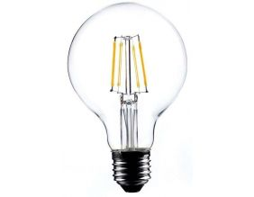 Ampoule ronde LED droit transparent 12 cm (Unitaire)