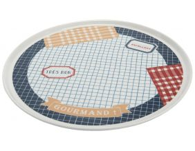 Assiette en porcelaine Bon point 34 cm