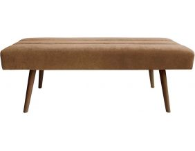 Banc design en velours et bois Explicit (Chocolat)
