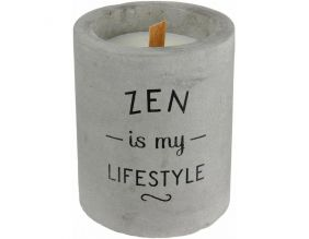 Bougie senteur linge frais pot en ciment (Zen is my lifestyle)