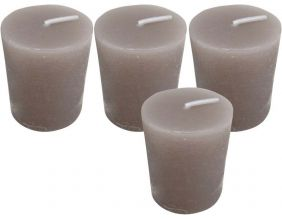 Bougies Oslo (Lot de 4) (Taupe)
