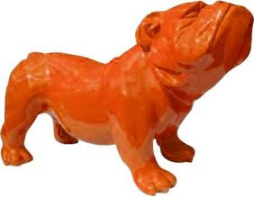 Bouldogue anglais coloré en résine (Orange)