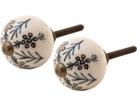 Bouton de porte rond baies (Lot de 2)