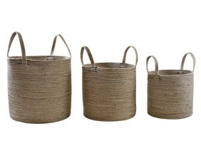 Cache-pot en jute et coton (lot de 3)