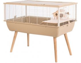 Cage Neo nigha pour petits rongeurs 36 cm (Beige)