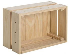 Caisse en pin massif modulable Home box (Petite)