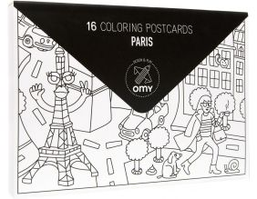 Cartes postales à colorier Paris (Lot de 16) (Paris)