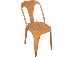 Chaise Vintage en métal (Orange)