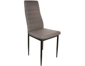 Chaise assise et dossier en PVC Victor (Taupe)