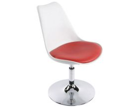 Chaise design Victoria (Blanc/Rouge)