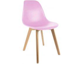 Chaise scandinave coque polypropylène (Rose)