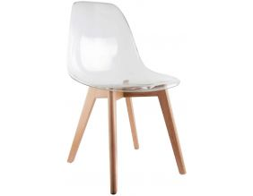Chaise scandinave coque polypropylène (Transparent)