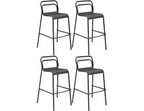 Chaises de bar en aluminium Eos (Lot de 4) (Graphite)