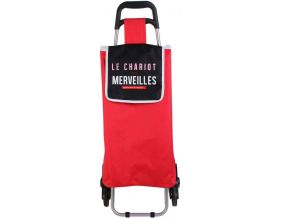 Chariot shopping en polyester 6 roues (Rouge)
