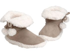 Chaussons Pompons tout doux pointure 39/40 (Taupe)