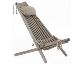Chilienne bois EcoChair (coussin offert) (Pin Gris)