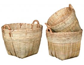 Paniers en bambou naturel (Lot de 3)