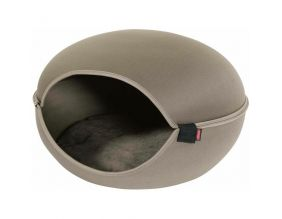 Couchette dome pour chat Louna (Taupe)