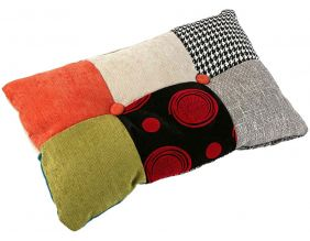 Coussin rectangulaire en tissu patchwork Philippe