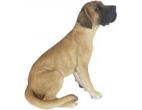 Dogue allemand assis en résine 52 cm