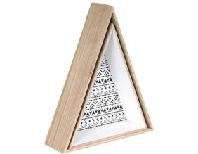 Etagère en triangle en bois Happy Life (Lot de 2)