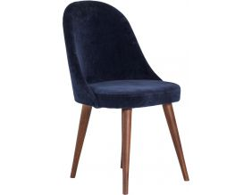 Fauteuil en velours Willow (Bleu navy)