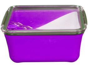 Grande lunch box avec compartiment amovible (Violet)