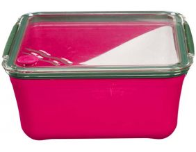Grande lunch box avec compartiment amovible (Rose)