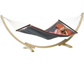Hamac avec support en bois American Dream grey