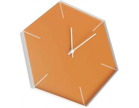 Horloge loft Héxagona 30 x 35 cm (Orange)
