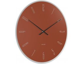 Horloge en verre Mirror numbers (Marron)