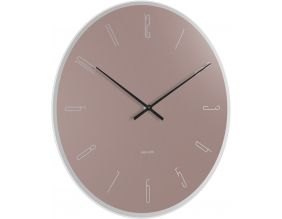 Horloge en verre Mirror numbers (Rose)
