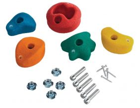 Kit pierres à grimper pour mur d'escalade (Lot de 5)