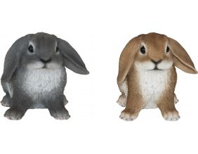 Lapin assis en résine 14 cm (Lot de 2)