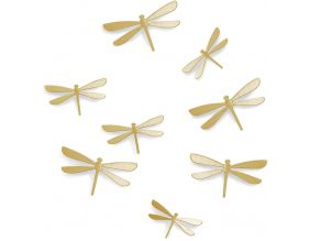 Libellules en plastique en relief (Lot de 8)
