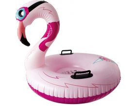 Luge gonflable pour adulte flamant rose