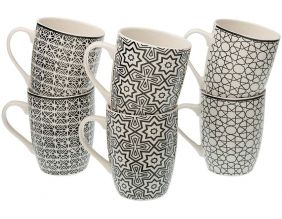 Mug en porcelaine Graphic (Lot de 6)