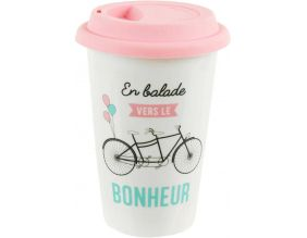 Mug de transport Sur la route (Rose)